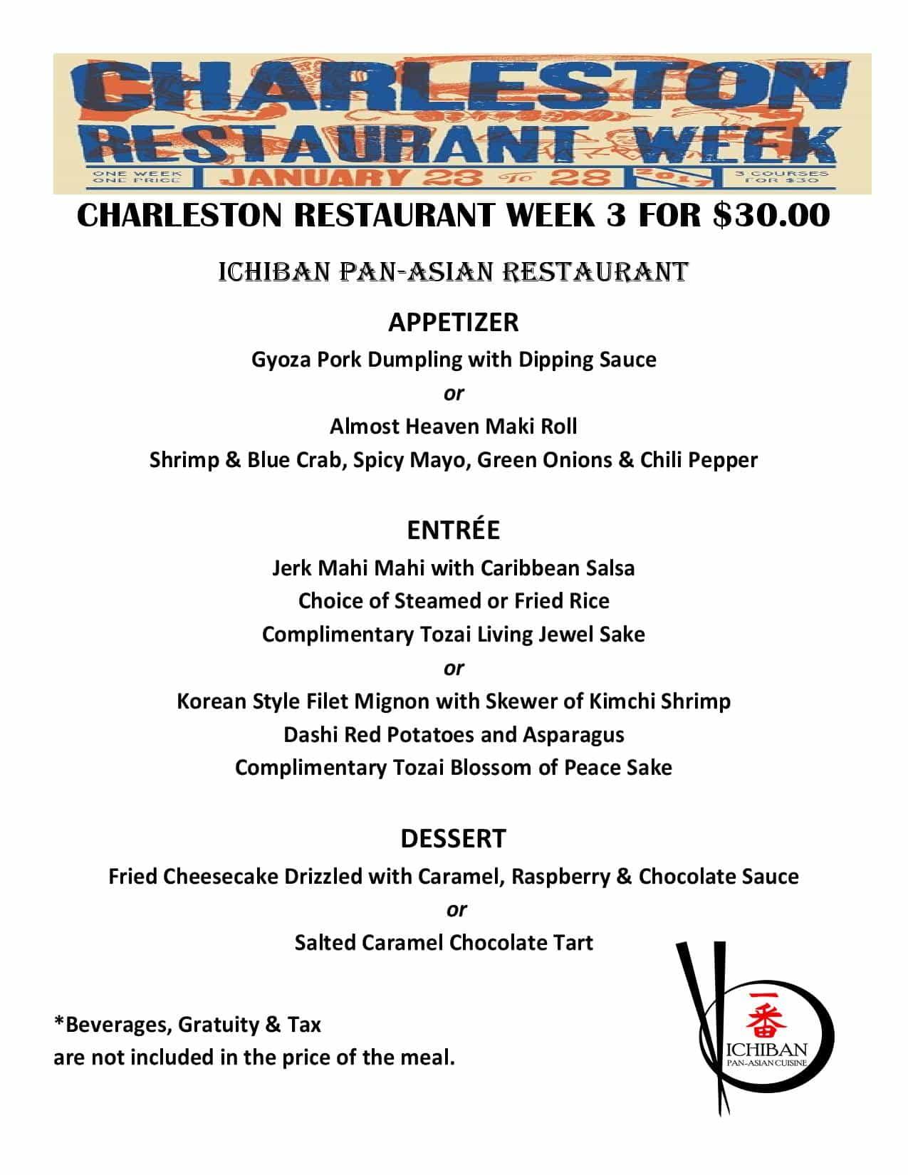 Seafood Unlimited Restaurant Week Menu
